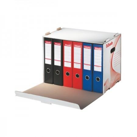 Container arhivare bibliorafturi 525x338x306mm alb, ESSELTE