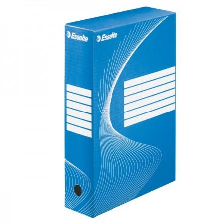 Cutie arhivare 8cm albastra, ESSELTE Boxy Vivida