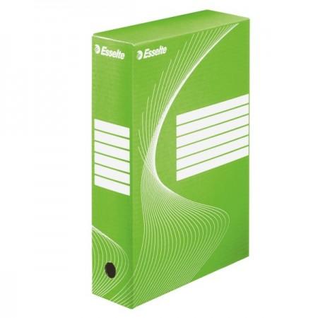 Cutie arhivare 8cm verde, ESSELTE Boxy Vivida