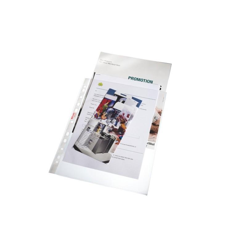 Folie protectie documente A4 125mic transparenta 25 buc/set, ESSELTE Maxi