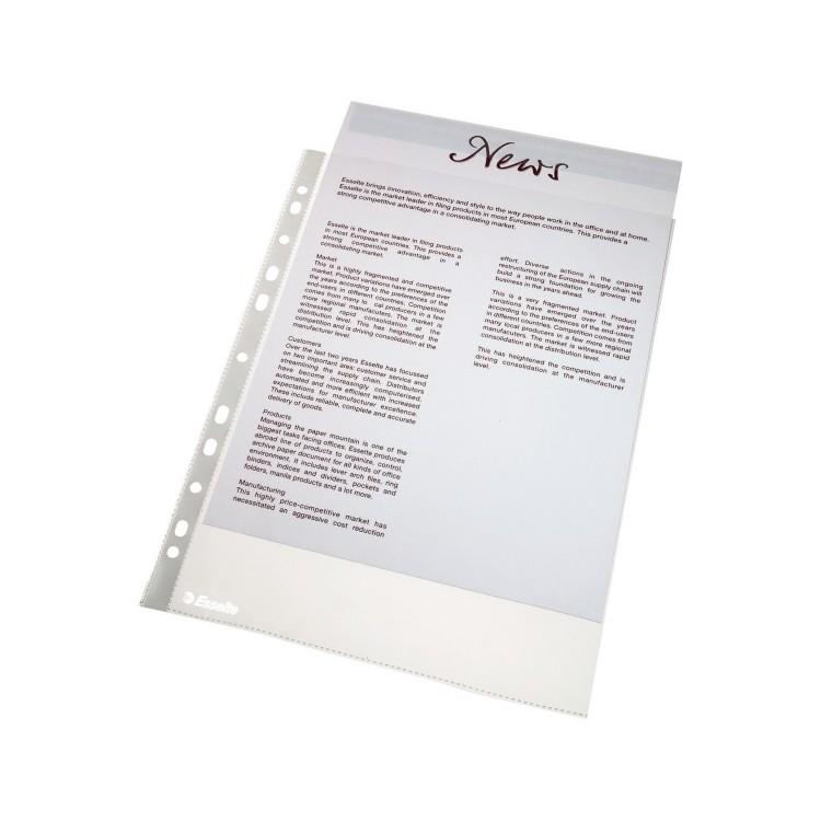 Folie protectie documente A4 40mic 100 buc/set, ESSELTE