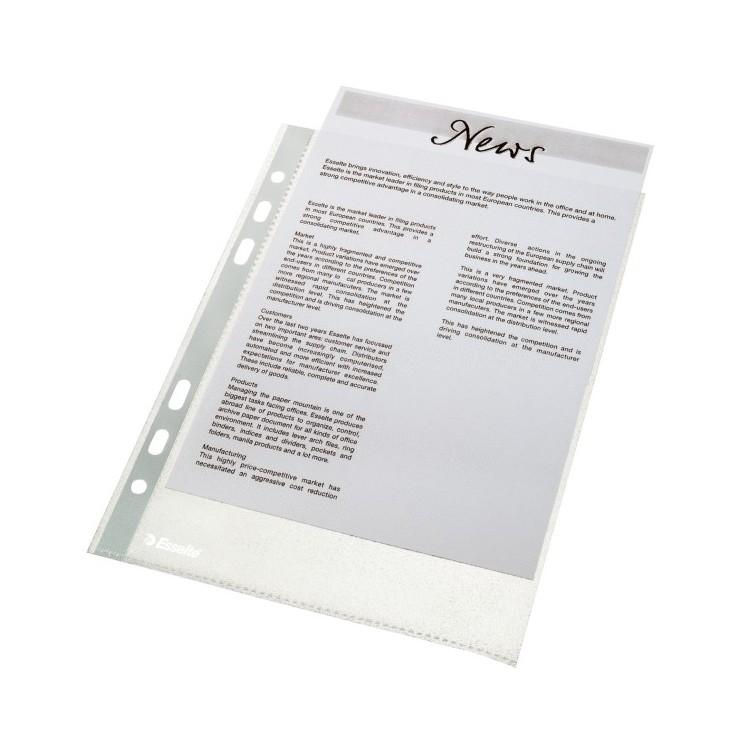 Folie protectie documente A5 46mic 100 buc/set, ESSELTE