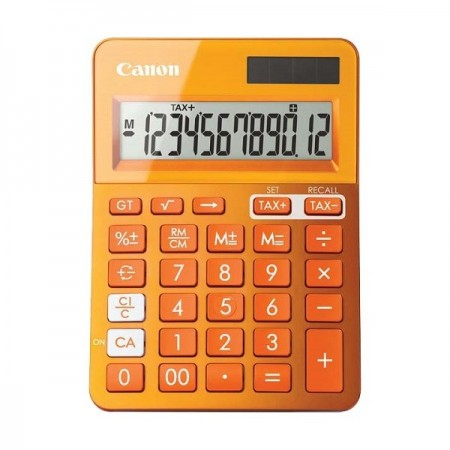 Calculator de birou 12 Digits portocaliu, CANON LS-123KOR