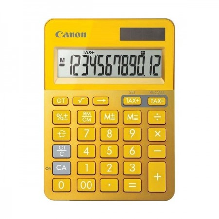 Calculator de birou 12 Digits galben, CANON LS-123KMYL