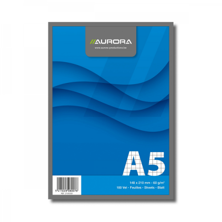 Blocnotes A5 100 file matematica 60g/mp, AURORA Office