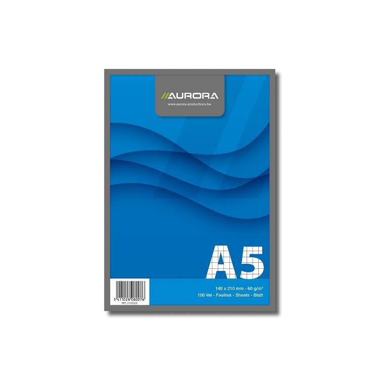 Blocnotes A5 100 file veline 60g/mp, AURORA Office