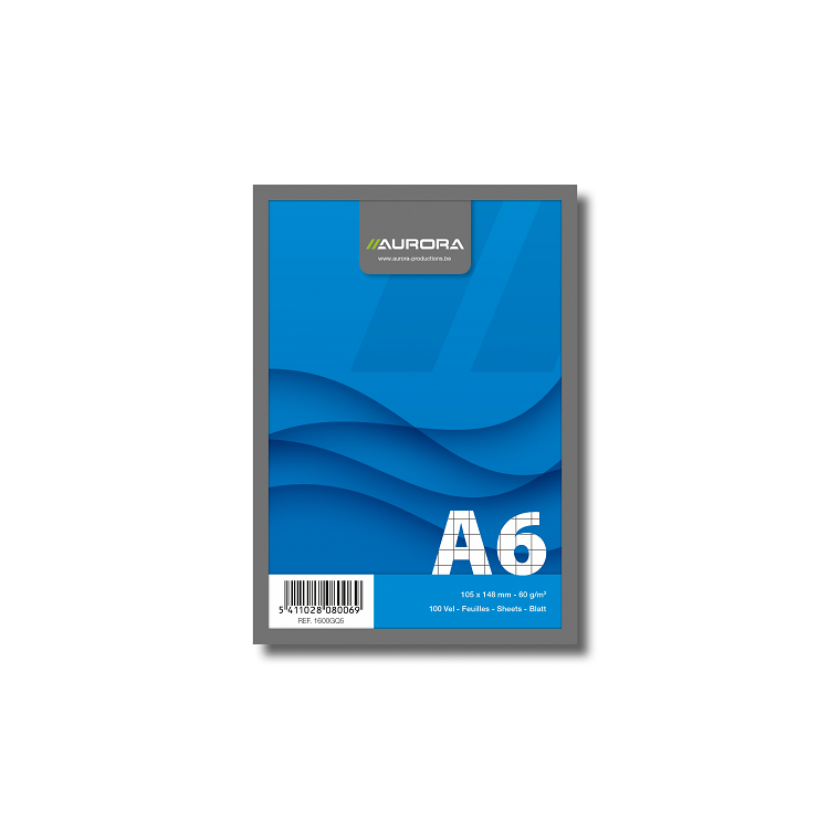Blocnotes A6 100 file matematica 60g/mp, AURORA Office