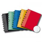 Caiet A5 72 file matematica 90g/mp coperti carton embosat, AURORA Adoc