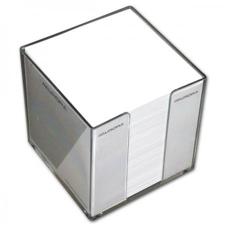 Cub hartie alb 9x9cm 900 file cu suport plastic, AURORA Bur-O-Class