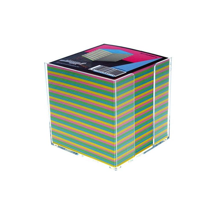 Cub hartie color 9x9cm 900 file cu suport plastic, AURORA Bur-O-Class