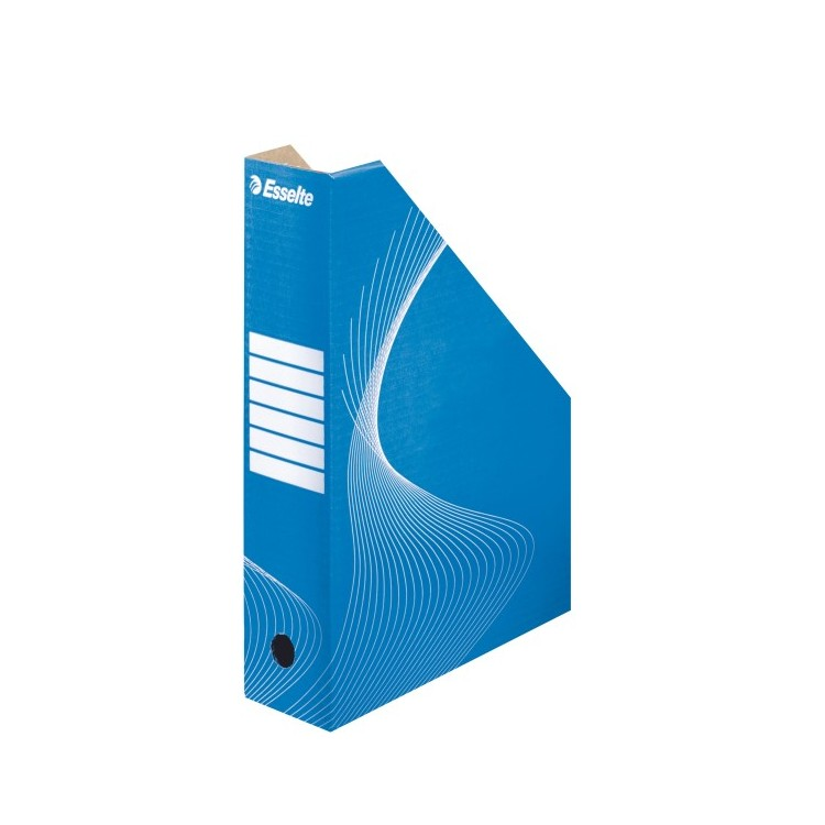 Suport vertical documente carton albastru, ESSELTE