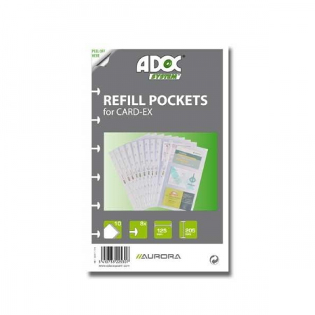 Rezerve clasor A5 pentru 6 carti de vizita 10 buc/set, AURORA Adoc