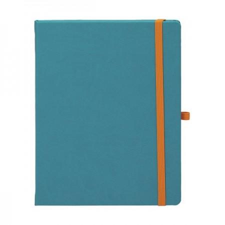 Agenda nedatata 13x21cm coperta CV301 turcoaz, EGO Notebook Pro