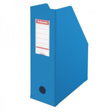 Suport vertical documente 10cm carton plastifiat albastru, ESSELTE