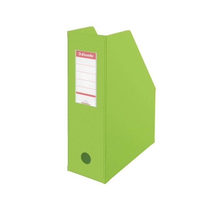 Suport vertical documente 10cm carton plastifiat verde, ESSELTE