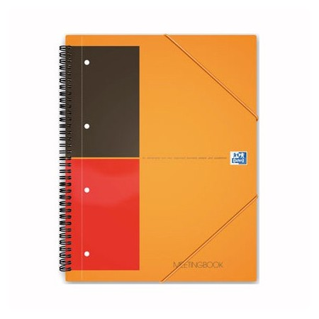 Caiet A4+ cu spira 80 file dictando coperti carton, OXFORD Meetingbook