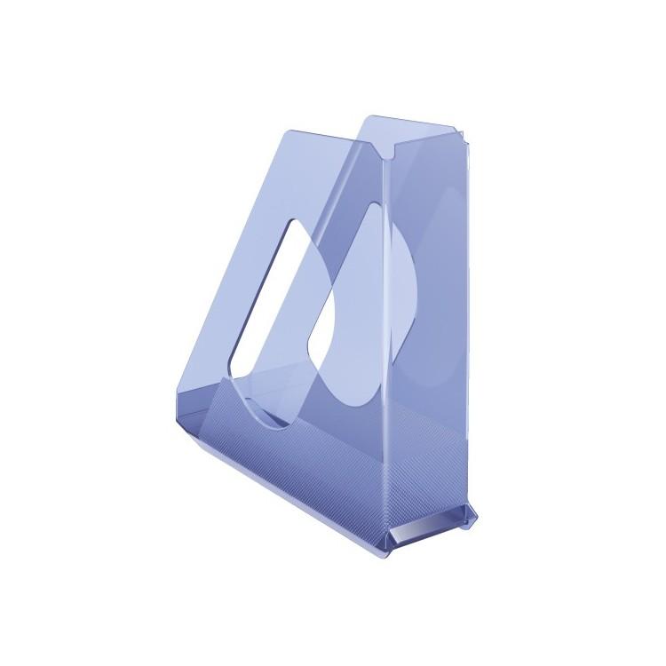 Suport vertical documente plastic albastru transparent, ESSELTE Europost