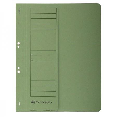 Dosar carton cu capse 1/2 verde, EXACOMPTA