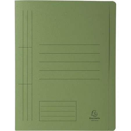 Dosar carton cu sina verde, EXACOMPTA