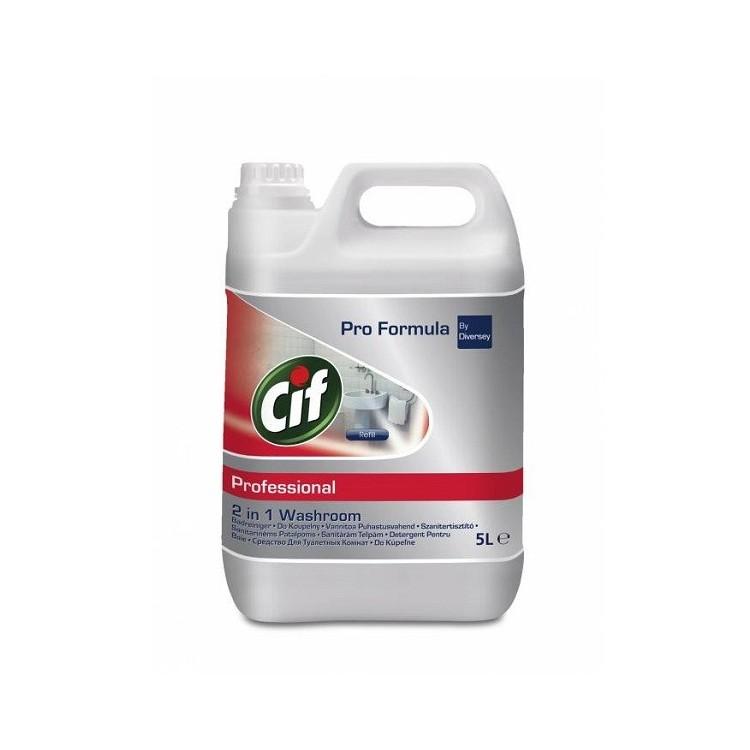 Detergent lichid pentru baie 2in1 5l, CIF Professional