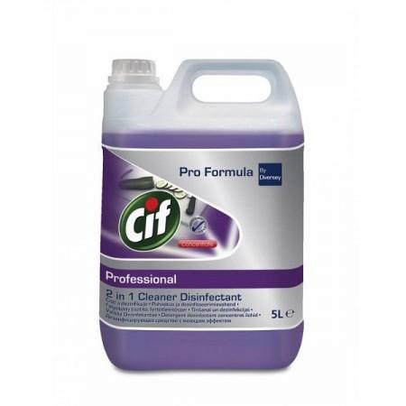 Detergent dezinfectant concentrat lichid 2in1 5l, CIF Professional