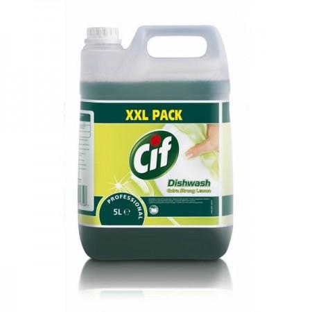 Detergent lichid pentru vase 5l, CIF Professional Extra Strong Lemon