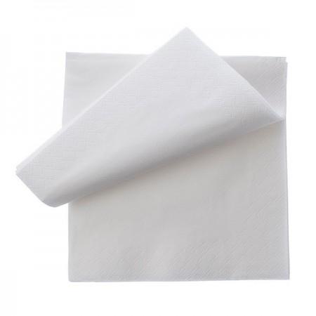 Servetele de masa 2 straturi 33x33cm alb 250 buc/set, OTI