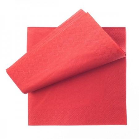 Servetele de masa 2 straturi 33x33cm rosu 250 buc/set, OTI
