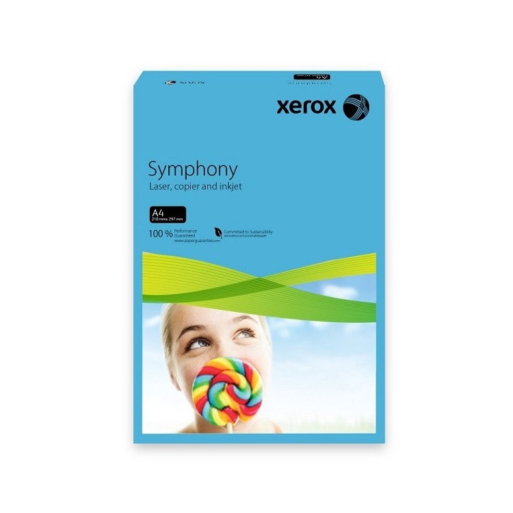 Carton A4 160g/mp 250 coli/top albastru intens, XEROX Symphony