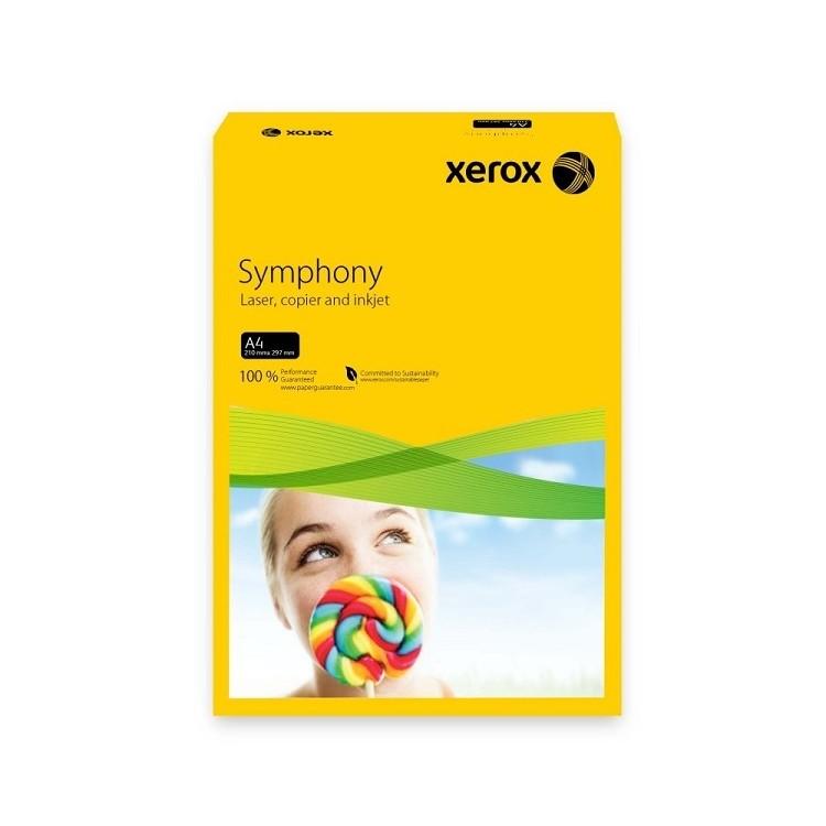 Hartie copiator A4 80g/mp 500 coli/top galbena intens, XEROX Symphony