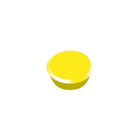 Magneti tabla 13mm diametru plastic galben 10 buc/set, ALCO