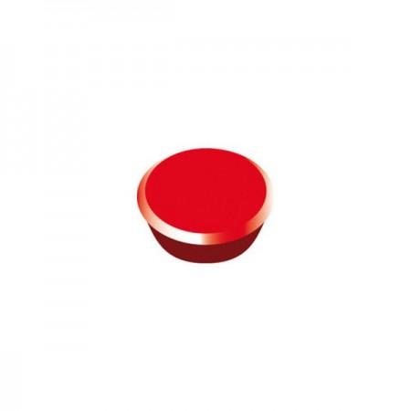 Magneti tabla 13mm diametru plastic rosu 10 buc/set, ALCO