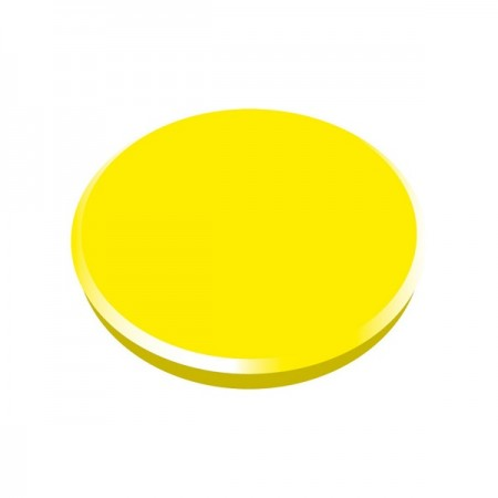 Magneti tabla 32mm diametru plastic galben 10 buc/set, ALCO