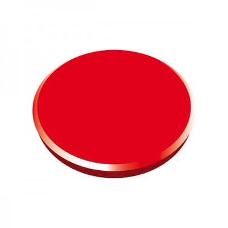 Magneti tabla 32mm diametru plastic rosu 10 buc/set, ALCO