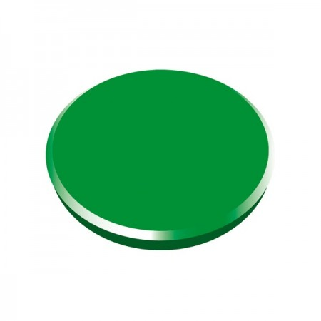 Magneti tabla 32mm diametru plastic verde 10 buc/set, ALCO