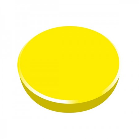 Magneti tabla 38mm diametru plastic galben 10 buc/set, ALCO