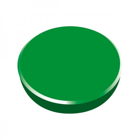 Magneti tabla 38mm diametru plastic verde 10 buc/set, ALCO