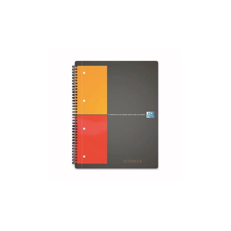 Caiet A4+ cu spira 80 file matematica coperti carton, OXFORD Activebook