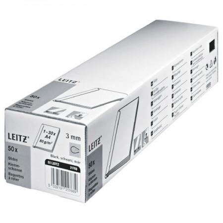 Sina prindere documente 3mm plastic neagra 20 coli, LEITZ