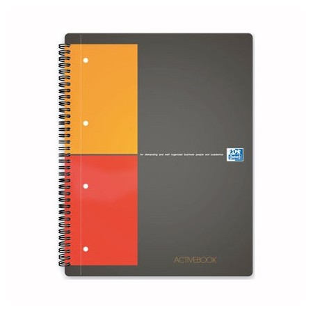 Caiet A4+ cu spira 80 file dictando coperti carton, OXFORD Activebook