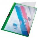 Dosar plastic cu clema verde, LEITZ Clipsy Plus
