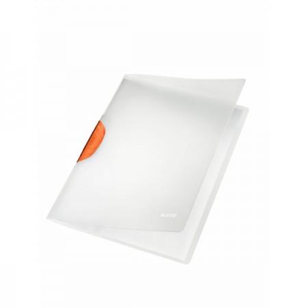 Dosar plastic cu clema pivotanta alb, LEITZ Colorclip Magic