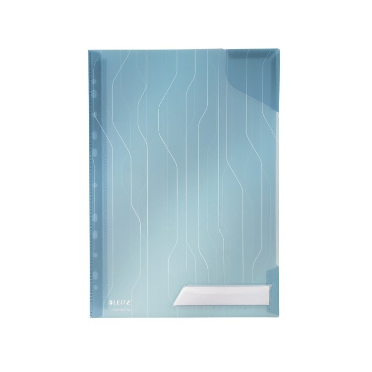 Folie/Mapa protectie documente A4 200mic albastra transparent 3 buc/set, LEITZ Combifile
