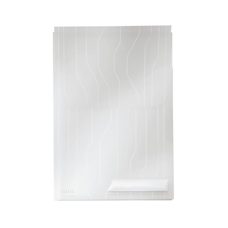 Folie/Mapa protectie documente A4 burduf 2cm si clapa 200mic alba transparent 3 buc/set, LEITZ Combifile Jumbo