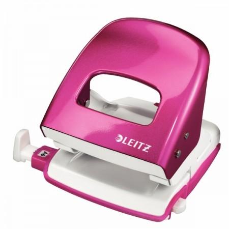 Perforator 30 coli roz metalizat, LEITZ 5008
