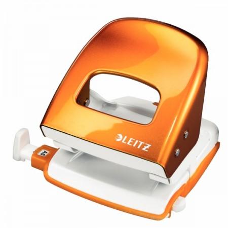 Perforator 30 coli portocaliu metalizat, LEITZ 5008