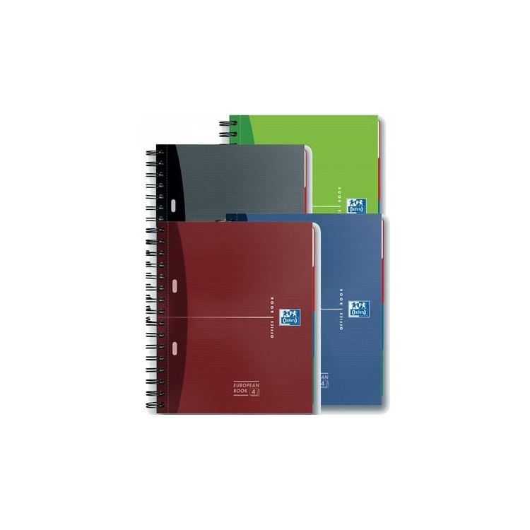 Caiet A4+ cu spira 120 file matematica coperti carton 4 subiecte, OXFORD Essentials