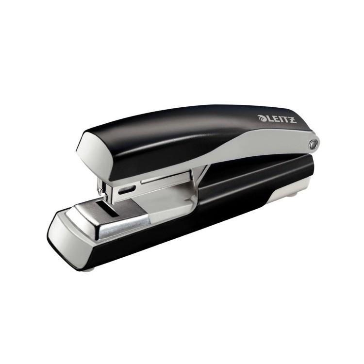 Capsator 24/6 30 coli capsare plata negru, LEITZ 5505