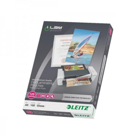 Folie pentru laminare A5 125mic 100 buc/set, LEITZ UDT