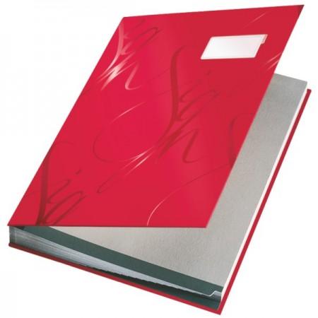 Mapa semnaturi cu 18 separatoare rosie, LEITZ Design